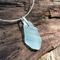 Blue Beachglass Necklace